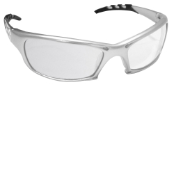 SAS Safety GTR Safety Glasses with Silver Frame and Clear Lens in Clamshell Packaging SAS542-0210