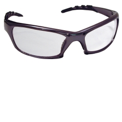 SAS Safety GTR Safety Glasses with Charcoal Frames and Clear Lens in Clamshell Packaging SAS542-0310