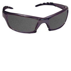 SAS Safety GTR Safety Glasses with Charcoal Frame and Shade Lens in Clamshell Packaging SAS542-0311