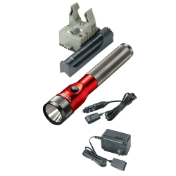 Streamlight Red Stinger LED Rechargeable Flashlight with AC/DC and PiggyBack STL75612