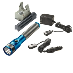 Streamlight Blue Stinger LED Rechargeable Flashlight with AC/DC and PiggyBack STL75613