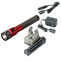 Streamlight Red Stinger DS LED Rechargeable Flashlight with AC/DC and PiggyBack STL75616