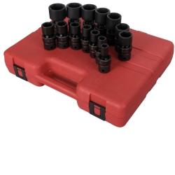 "Sunex Tools 1/2"" Drive 14 Piece SAE Universal Impact Socket Set - SUN2644"