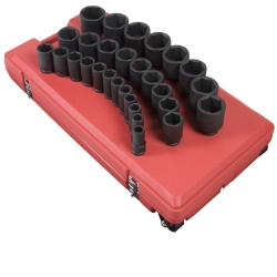 "Sunex Tools 3/4"" Drive 29 Piece 6 Point SAE Deep Impact Socket Set SUN4695"