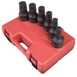 "Sunex Tools 1"" Drive 6 Piece SAE Impact Hex Driver Set SUN5606"