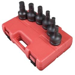 "Sunex Tools 1"" Drive 6 Piece Metric Impact Hex Driver Set SUN5607"