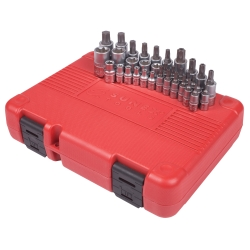 "Sunex 34 Piece 1/4"", 3/8"" and 1/2"" Drive Star Bit and Master Socket Set - SUN9934"