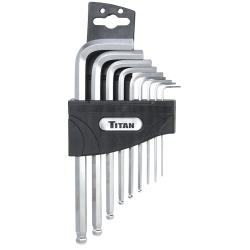 Titan 9 Piece SAE Detent Ball Hax Key Set - TIT12735