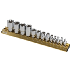 Titan 13 Piece E-Star Socket Set - TIT17403