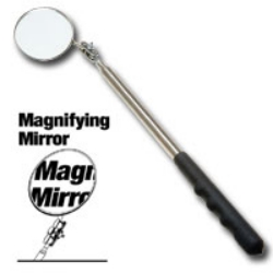 "Ullman Devices Corp Extra Long 2-1/4"" Diameter Magnifying Inspection Mirror ULLHTC-2LM"