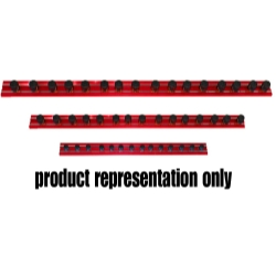 "Vim Products 12"" Red Magrail TL Magnetic Socket Holder, with 20 - 1/4"" Studs - VIMMR12R20A"
