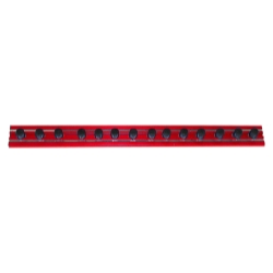 "Vim Products 8"" Red Magrail TL Magnetic Socket and Tool Organizer - VIMMR8R14A"