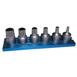 "Vim Products 6 Piece XZN Stubby Driver Set, 1/4"" Square Drive - VIMXZNS412"