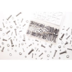Wilmar 240 Piece Zinc Nut and Bolt Hardware Kit WLMW5334