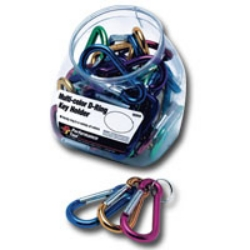 Wilmar 30 Individual Multi-Color D-Ring Key Holders WLMW969