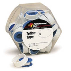 Wilmar 40 Piece Teflon Tape Fish Bowl Merchandiser WLMW974