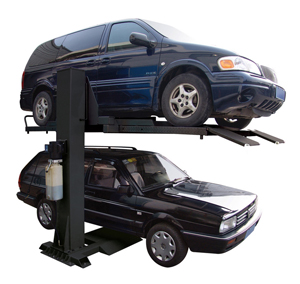 Auto Lift AL-SP-6K-SS 6000 lb. Single Column Car Storage Lift