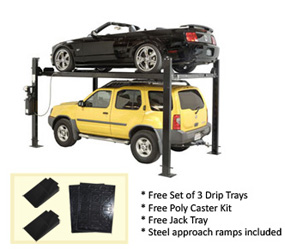 Auto Lift FP8K-DX Car-Park-8 Car Storage Lift 8K lb | 4 Post Parking Lift