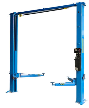 iDeal Lift TP10KAC-D Overhead Style Asymmetric 2 Post Car Lift 10K lb | ALI-ETL Certified