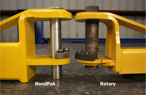 BendPak and Rotary arms side Detail Comparison