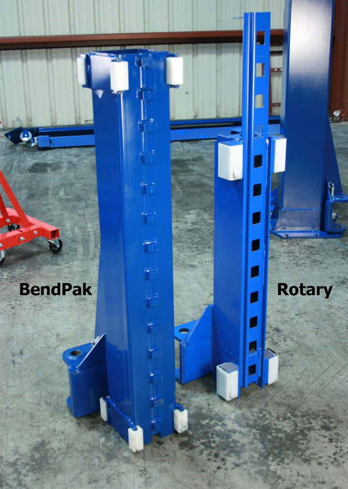 BendPak and Rotary Carriage Rear Comparison