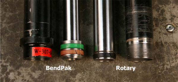 BendPak and Rotary Hydraulic Cylinder Rod End Comparison