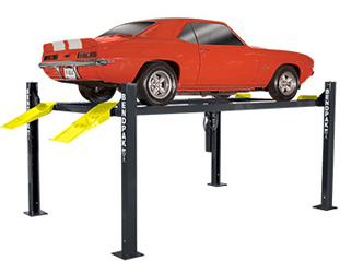 BendPak HD-9ST P/N 5175860 Narrow Width Four Post Car Lift 9,000 lb. Capacity
