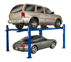 BendPak HD-9XL Extra Wide and Long Four Post Car Lift 9000 lb Capacity