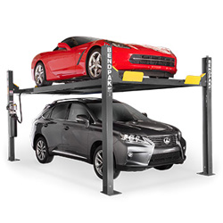 BendPak HD-9XW Extra Tall Four Post Car Storage Parking Lift 9,000 lb. - New Gray