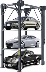 BendPak PL-14000 3 Levels 14,000-lb. Capacity Four-Post Car Stacker Parking Lift - P/N 5175440