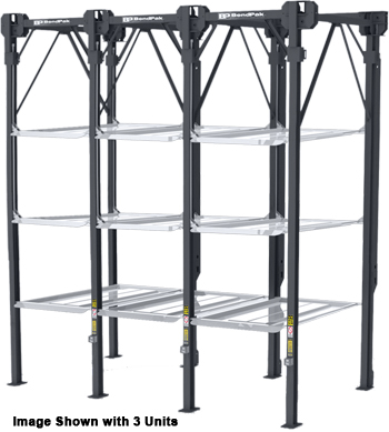 BendPak PL-18000 4 Levels 3 Ganged 18,000-lb. Capacity Four-Post Parking Lift - P/N 5175460