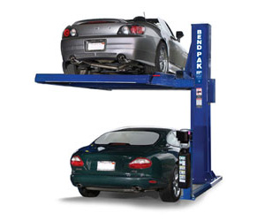 BendPak PL-6000X Extended Single-Post Car Parking Lift 6,000 lb cap.