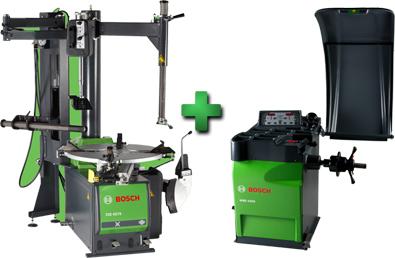 "Bosch WSE7500EH Combo Includes TCE 4275EHC 28"" Swing Arm Tire Changer w/Helper Assembly & Ergonomic Bead Breaker & WBE 4200 LED Wheel Balancer"