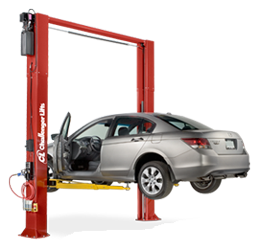 Challenger CL10V3-DPS ALI Cert. Versymmetric Plus Two Post Car Lift 10,000 w/Dual Pendant Power Controls