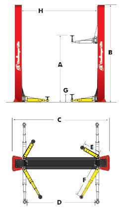 Challenger CLFP9 specs diagram