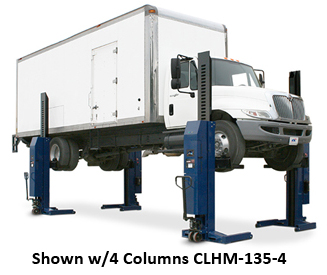 Challenger Lifts CLHM-135 Mobile HD Column Lifts (Set of 2) - CLHM-135-2