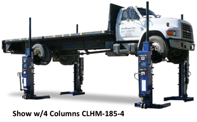Challenger CLHM-185 Mobile HD Mobile Column Lifts Set of 2 - CLHM-185-2