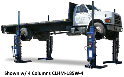 Challenger CLHM-185 Wider Mobile HD Mobile Column Lifts Set of 2 - CLHM-185W-2