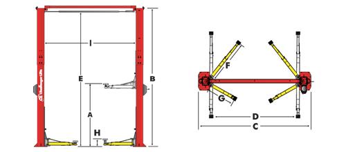 E15 Two Post Lifts