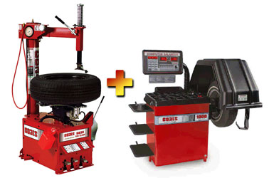 Coats 5035E Tire Changer with Coats 1000 Wheel Balancer Combo