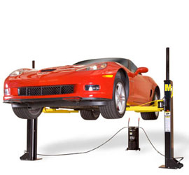 Dannmar MaxJax&#8482; Portable Two Post Car Lifting System 6,000 lb Capacity