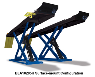 "Hofmann BLA10205H & BLA10205HFM Surface or Flush Mount 14K 175"" Wheelbase Scissor Alignment Lift"