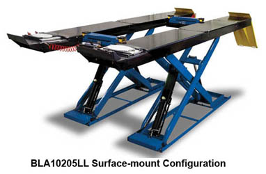 Hofmann BLA10205LL & BLA10205LLFM Surface or Flush Mount 10K Scissor Alignment Lift
