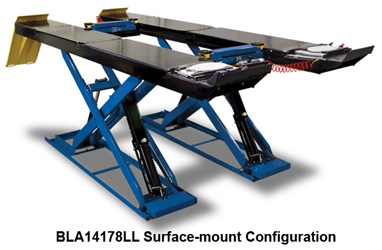 Hofmann BLA14178LL & BLA14178LLFM Surface or Flush Mount 10K Scissor Alignment Lift