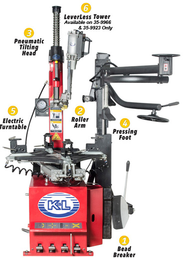 K & L MC900 Tire changer features