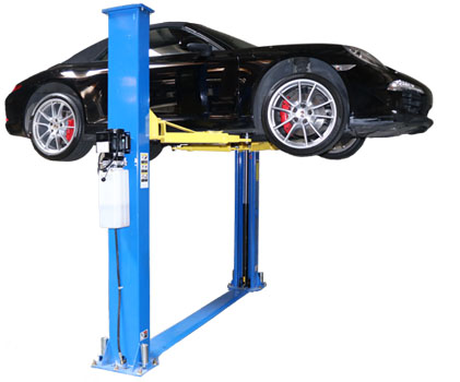 Nationwide NW-2-9KFP 2 Post Symmetric Floor Plate Car Lift 9,000 lbs