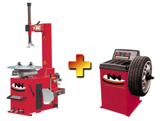 Nationwide Economy Tire Changer NW-430 with Nationwide NW-1030 Wheel Balancer
