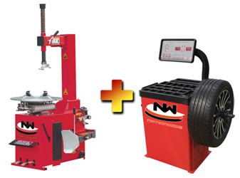 Nationwide Economy Tire Changer NW-430 with Nationwide NW-953-B Wheel Balancer