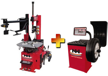 Nationwide NW-950-WPA Tire Changer with Helping Arm and NW-953 Wheel Balancer Combo