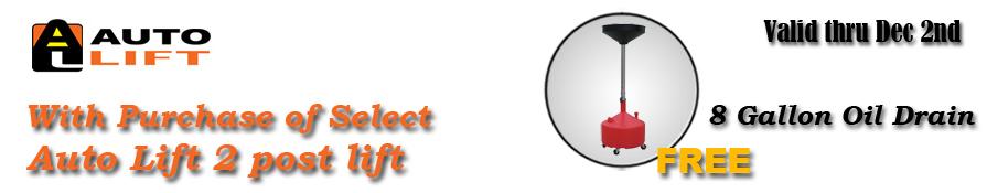 Auto Lift free 8G oil drain promo